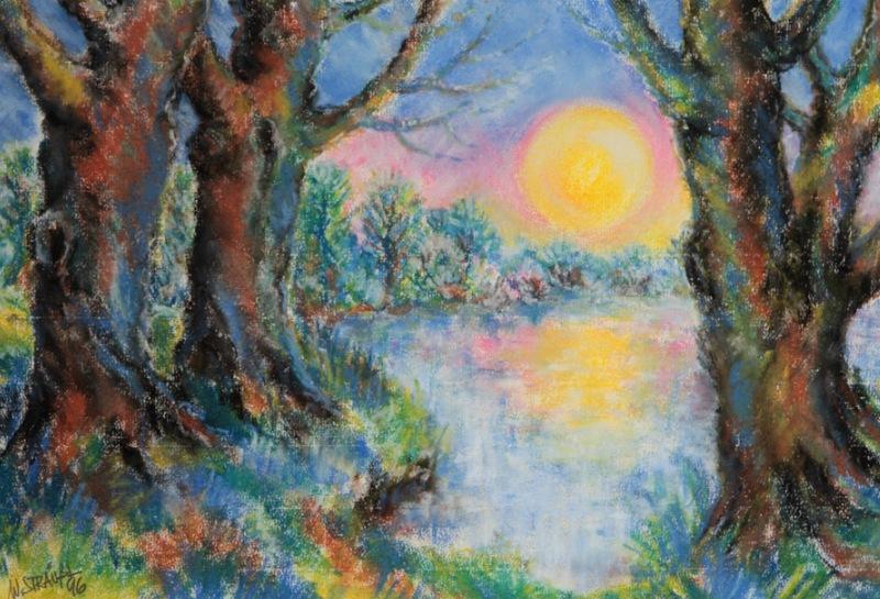 Malerei auf Pastellbasis